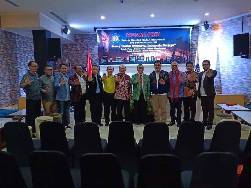 Musda DPD FBBI Sumsel Pererat Kebersamaan masyarakat Batak