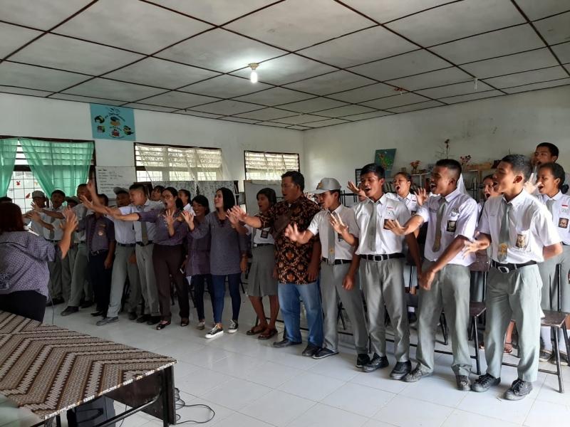 Dalam Rangka Sumpah Pemuda, GEPENTA TOBASA Ajak Siswa Tolak Narkoba, Tawuran, Anarkisme