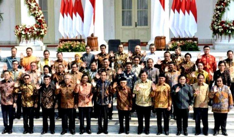 Foto: Jajaran Menteri Kabinet Jokowi Jilid II-Kabinet Indonesia Maju (foto ist)