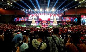 Para Umat Kristiani dan Para Undangan, di Natal Nasional 2019, Sentul, Bogor