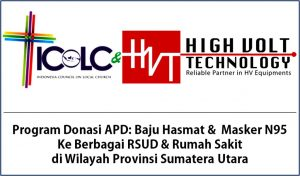 Program Donasi APD dan Masker ICoLC didukung oleh PT HVT, Jakarta