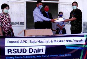 Serah terima di RSUD Dairi, Sidikalang, kab. Dairi