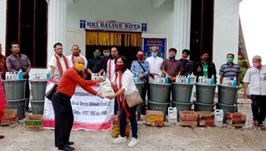 Panitia Batak Bersatu Melawan Covid-19, Lakukan Long March Penyerahan Bantuan ke Berbagai Gereja dan Masjid di Sumut
