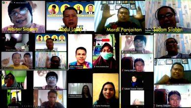 Semangat Mengikuti Webinar 'Guru Diatas Garis', Peserta Luapkan Narasi di Chatting Room