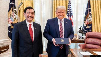 Luhut Binsar Panjaitan Bertemu Presiden Trump, Ucapkan Terimakasih Soal GSP