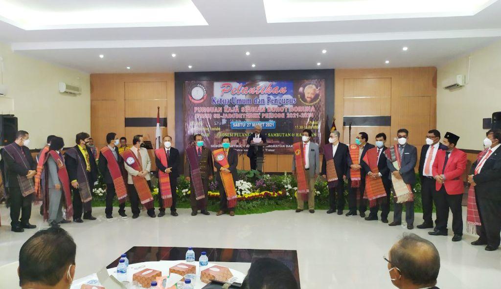 Drs. Imanuel Bondjol Siagian, MH Dilantik Sebagai Ketua Umum, Bersama Jajaran Pengurus PRSB Se-Jabodetabek Periode 2021-2024